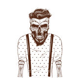 Fashion zombie dressed in t-shirt Royalty Free Stock Photo
