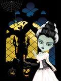 Fashion Zombie Girl near Window Stock Images