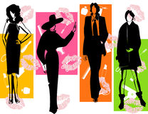 Fashion2. Women of model in fashionable dresses. A  illustration Royalty Free Stock Photography