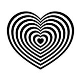 Fashionable, abstract black and white heart vector illustration
