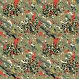 Fashionable Abstract Seamless Pattern. Stylized Spotted Leopard Skin Background for Fashion, Print, Wallpaper, Fabric. Vector illustration royalty free illustration