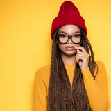 Fashionable african american girl. Royalty Free Stock Photo