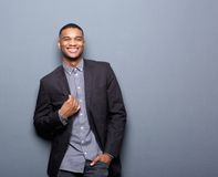 Fashionable african american man smiling Royalty Free Stock Photography