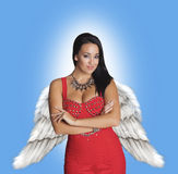 Fashionable angel. Stock Image