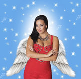 Fashionable angel. Stock Photos