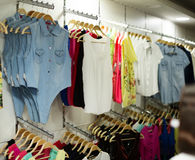 Fashionable apparel store Royalty Free Stock Photography