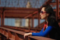 Fashionable Asian woman Stock Photography