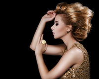 Fashionable attractive blonde hairdo Stock Photography