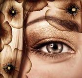 Fashionable autumn makeup Stock Images