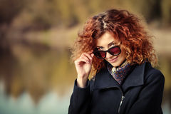 Fashionable autumn woman Royalty Free Stock Photo
