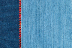 Fashionable background,  jeans and red  rhinestones Royalty Free Stock Photography