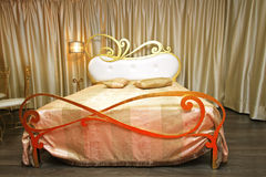 Fashionable bed Royalty Free Stock Photo