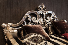 Fashionable bed Royalty Free Stock Photos
