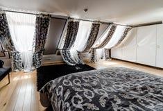 Fashionable bedroom Stock Photos