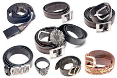 Fashionable belts Royalty Free Stock Photo