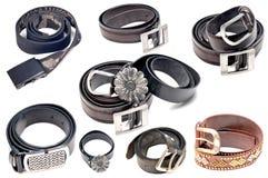 Fashionable belts Royalty Free Stock Photo