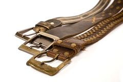 Fashionable belts Royalty Free Stock Image