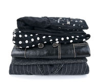 Fashionable black clothes Stock Photo