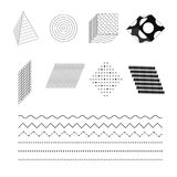 Fashionable black and white simple geometric shapes. Vector Illustration. EPS10 stock illustration