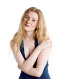 Fashionable blond woman. Royalty Free Stock Image