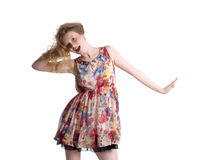 Fashionable blond woman. Stock Image