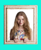 Fashionable blond woman. Royalty Free Stock Photos