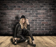 Fashionable blond woman. Royalty Free Stock Images