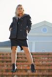 Fashionable blonde Royalty Free Stock Image