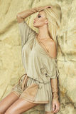Fashionable blonde beauty posing. Royalty Free Stock Images