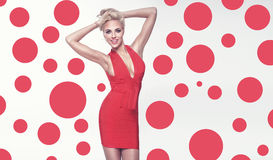 Fashionable blonde girl posing Royalty Free Stock Image