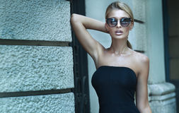 Fashionable blonde lady posing. Stock Photography