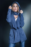 Fashionable blonde woman Royalty Free Stock Images