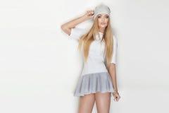 Fashionable blonde woman posing. Stock Photography