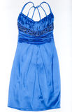 Fashionable blue gown Royalty Free Stock Image