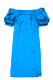 Fashionable blue gown Royalty Free Stock Photo