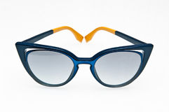 Fashionable blue sunglasses Royalty Free Stock Image
