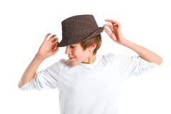 Fashionable boy Royalty Free Stock Photos