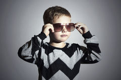 Fashionable boy in sunglasses.Little boy.Kids fashion Royalty Free Stock Images