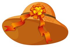 A fashionable brown hat with a cute ribbon Stock Photos