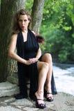 Fashionable Brunette Stock Images