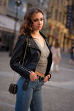 Fashionable brunette beauty. Royalty Free Stock Image