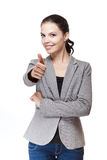 Fashionable brunette businesswoman. Stock Image