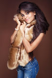Fashionable brunette woman, Royalty Free Stock Photo