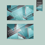 Fashionable business card template design Stock Images