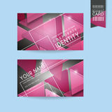 Fashionable business card template design Royalty Free Stock Photo