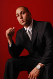 Fashionable business man. Royalty Free Stock Image