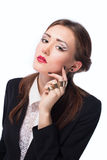 Fashionable business woman with evening make-up Stock Photos