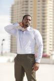 Fashionable businessman posing Stock Photography