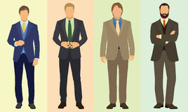Fashionable Businessmen Stock Images