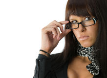 Fashionable businesswoman Stock Image